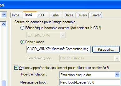 disquette de demarrage xp sp2